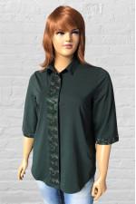 Женская модная рубашка с широкой планкой