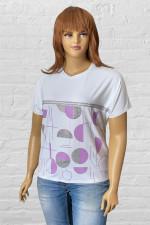Женская белая футболка с шарами