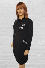 Стильное чёрное женское платье