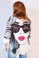 Женская рубашка с модным принтом