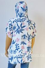 Летняя модная туника с капюшоном