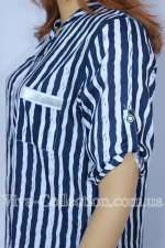 Туника-рубашка в полоску