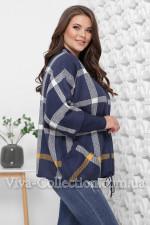 Женская вязаная кофта с рукавами кимоно