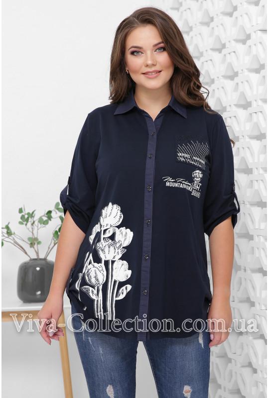 Женская рубашка с накаткой