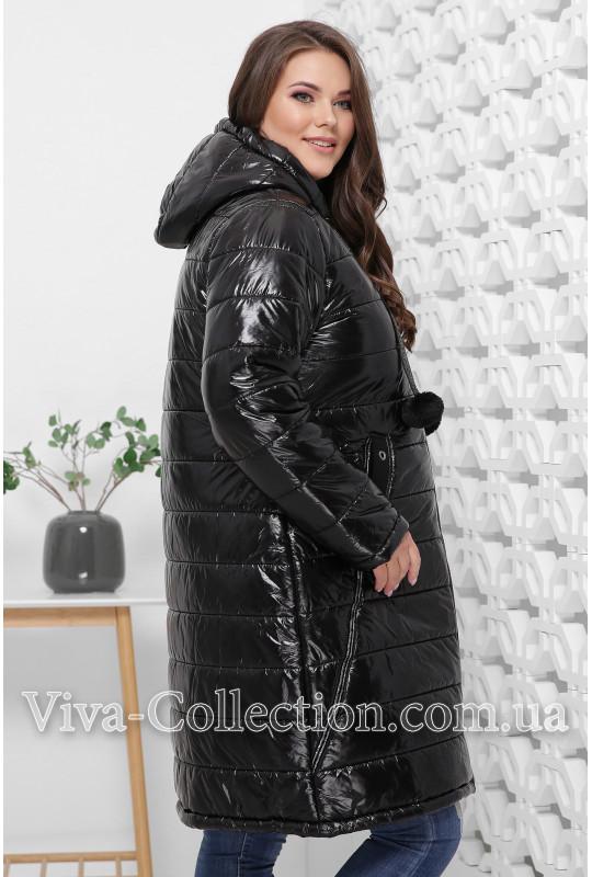 Модное женское пальто евро-зима (батал)