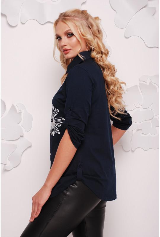 Женская стильная рубашка с накаткой