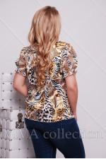 Женская летняя блузка на змейке