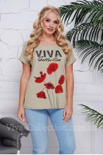 "Женская хб футболка ""ViVa"""