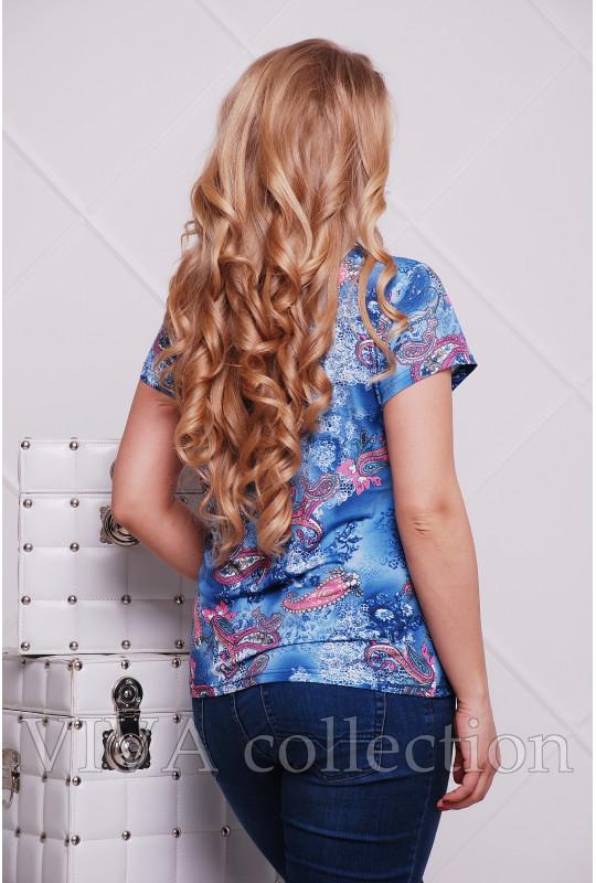 Летняя футболка на планке с турецким узором