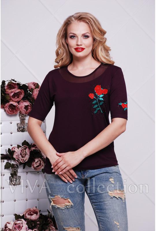 Женская футболка с розой