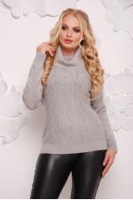 Женский теплый свитер с хомутом