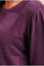 Нарядный женский джемпер с люрексом