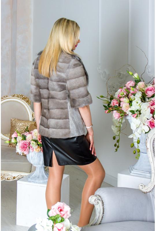 Куртка из натурального меха норки