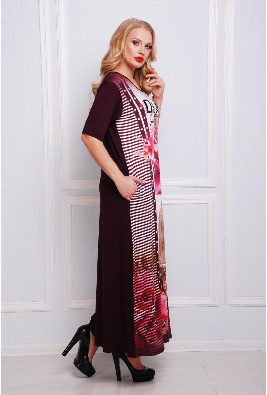Летнее длинное платье в пол 9739
