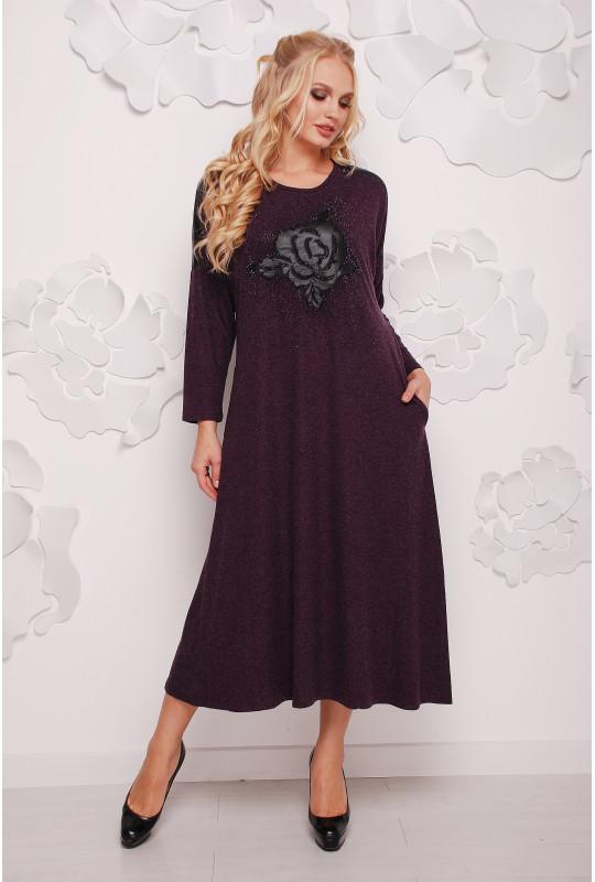Женское тёплое платье «Роза»
