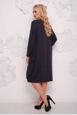 Женское батальное платье с сумочкой