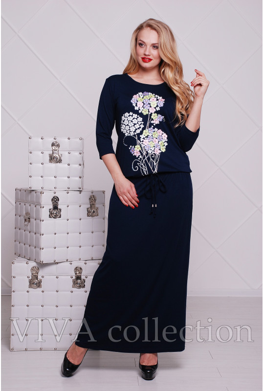 """Женское платье в пол """"Сакура"""""""
