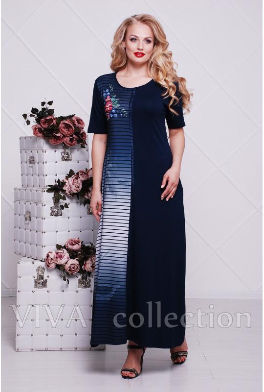 Женское платье в пол (Букет)