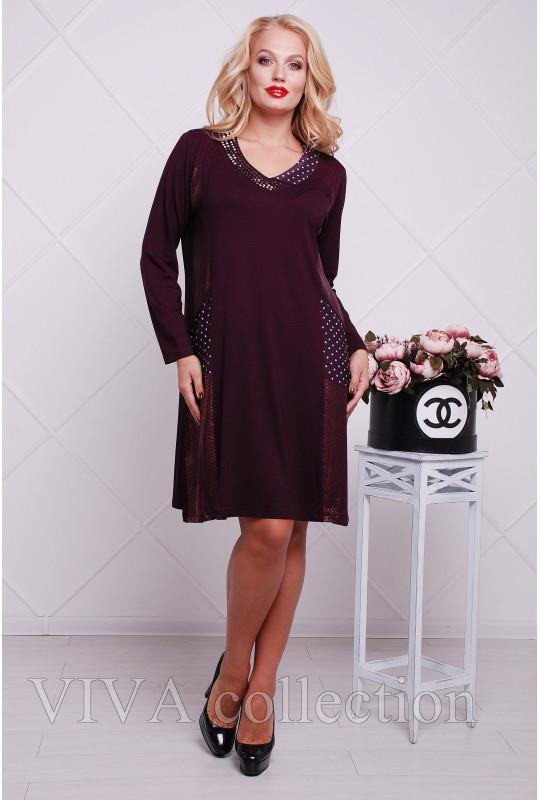 Женское платье в больших размерах