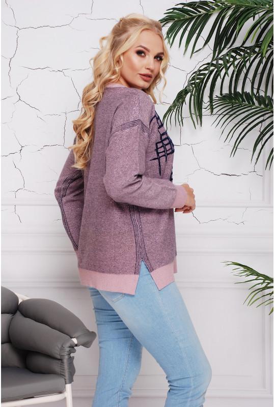 """Нарядный женский свитер """"Лабиринт"""""""