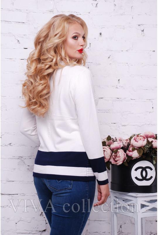 Женский свитер, имитация кофты