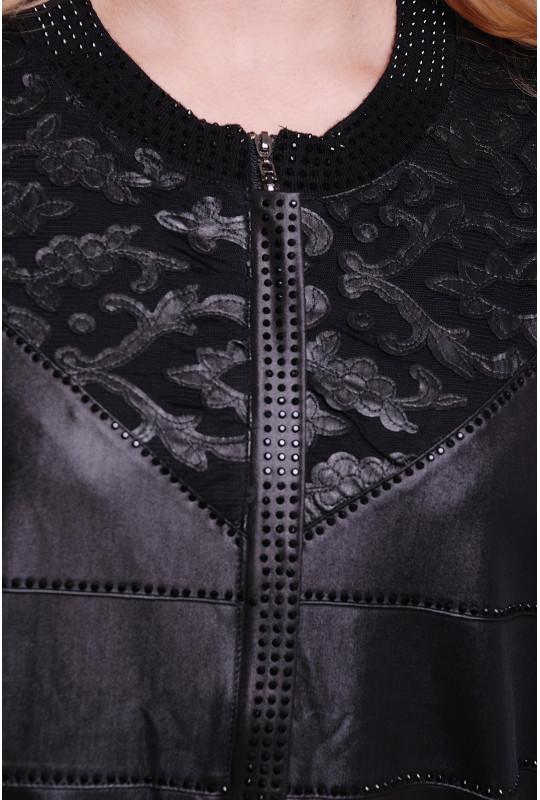 Женская кофта, эко-кожа с кашемиром