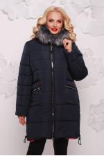 Женская куртка с мехом (полупальто)