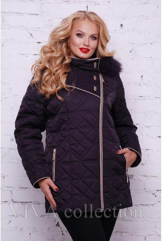Женская зимняя стеганая куртка